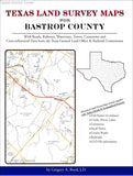 Texas Land Survey Maps for Bastrop County (Spiral book cover)