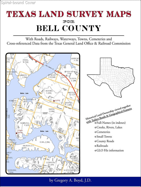 Texas Land Survey Maps for Bell County (Spiral book cover)