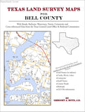 Texas Land Survey Maps for Bell County (Paperback book cover)