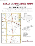 Texas Land Survey Maps for Bowie County (Paperback book cover)