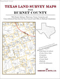 Texas Land Survey Maps for Burnet County (Paperback book cover)