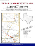 Texas Land Survey Maps for Caldwell County (Spiral book cover)