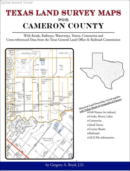 Texas Land Survey Maps for Cameron County (Spiral book cover)