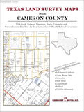 Texas Land Survey Maps for Cameron County (Paperback book cover)