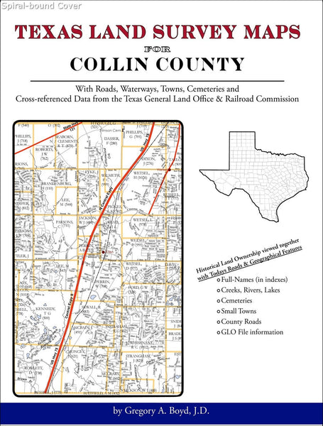 Texas Land Survey Maps for Collin County (Spiral book cover)