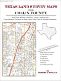 Texas Land Survey Maps for Collin County (Paperback book cover)