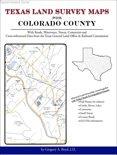 Texas Land Survey Maps for Colorado County (Spiral book cover)