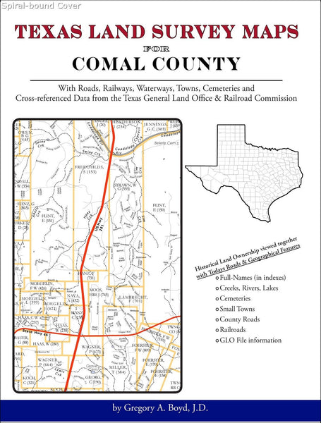 Texas Land Survey Maps for Comal County (Spiral book cover)