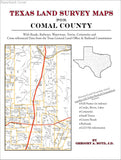 Texas Land Survey Maps for Comal County (Paperback book cover)