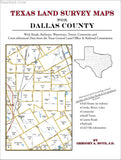 Texas Land Survey Maps for Dallas County (Paperback book cover)