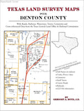 Texas Land Survey Maps for Denton County (Paperback book cover)