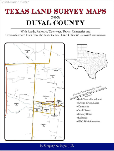 Texas Land Survey Maps for Duval County (Spiral book cover)