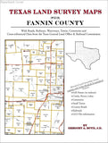 Texas Land Survey Maps for Fannin County (Paperback book cover)