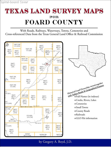 Texas Land Survey Maps for Foard County (Spiral book cover)