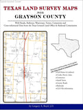 Texas Land Survey Maps for Grayson County (Spiral book cover)