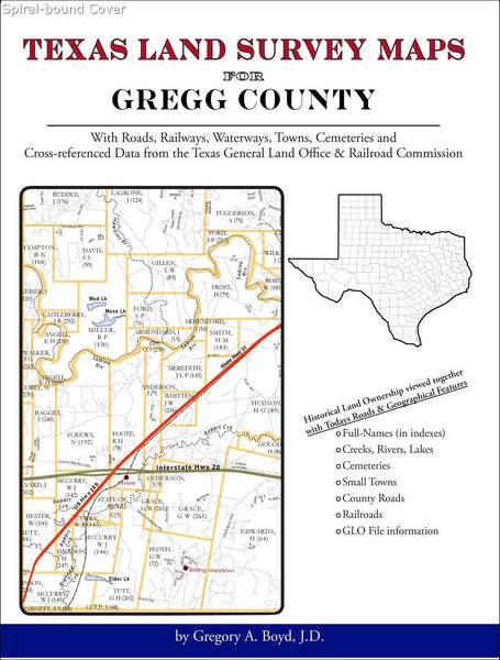 Texas Land Survey Maps for Gregg County (Spiral book cover)