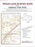 Texas Land Survey Maps for Gregg County (Paperback book cover)