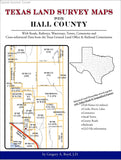 Texas Land Survey Maps for Hall County (Spiral book cover)