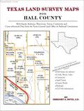 Texas Land Survey Maps for Hall County (Paperback book cover)