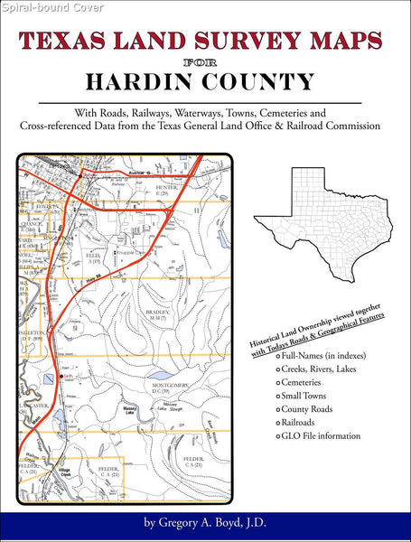 Texas Land Survey Maps for Hardin County (Spiral book cover)