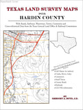 Texas Land Survey Maps for Hardin County (Paperback book cover)