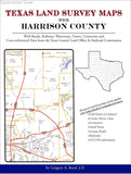Texas Land Survey Maps for Harrison County (Spiral book cover)