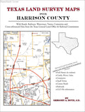 Texas Land Survey Maps for Harrison County (Paperback book cover)