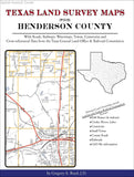 Texas Land Survey Maps for Henderson County (Spiral book cover)