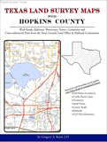 Texas Land Survey Maps for Hopkins County (Spiral book cover)