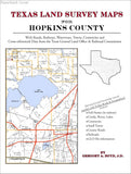 Texas Land Survey Maps for Hopkins County (Paperback book cover)