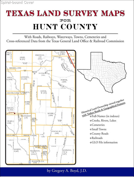 Texas Land Survey Maps for Hunt County (Spiral book cover)