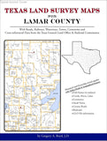 Texas Land Survey Maps for Lamar County (Spiral book cover)