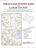 Texas Land Survey Maps for Lamar County (Paperback book cover)