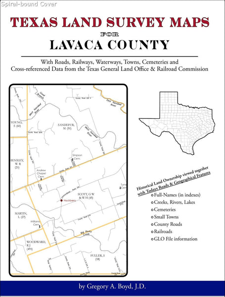 Texas Land Survey Maps for Lavaca County (Spiral book cover)