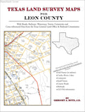Texas Land Survey Maps for Leon County (Paperback book cover)