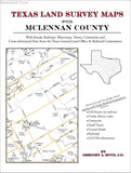 Texas Land Survey Maps for McLennan County (Paperback book cover)