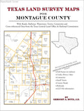 Texas Land Survey Maps for Montague County (Paperback book cover)