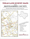 Texas Land Survey Maps for Montgomery County (Paperback book cover)
