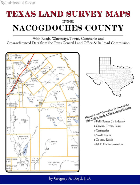 Texas Land Survey Maps for Nacogdoches County (Spiral book cover)