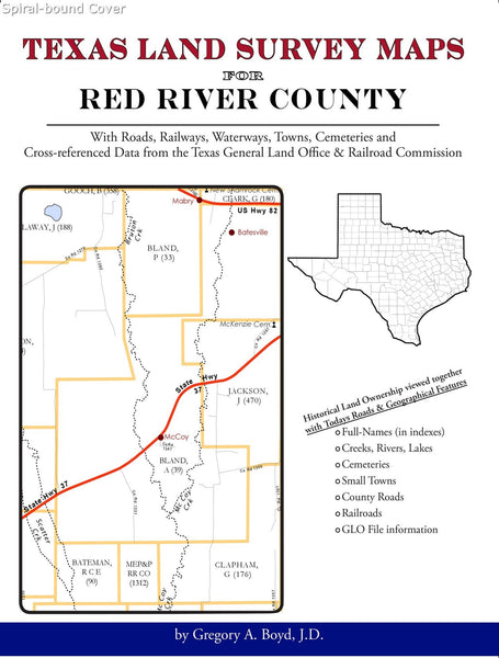 Texas Land Survey Maps for Red River County (Spiral book cover)