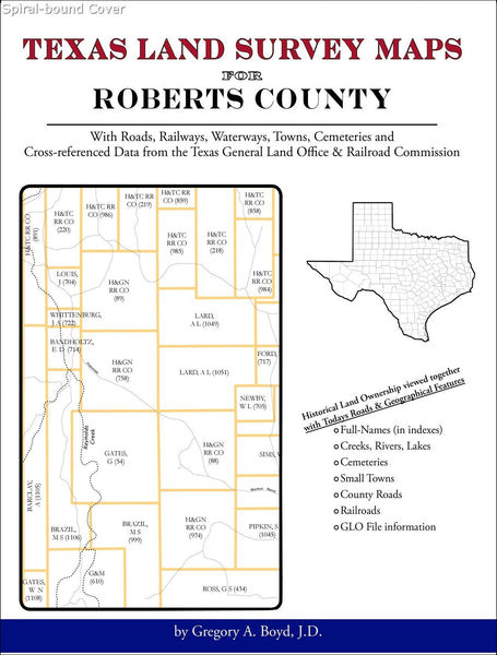 Texas Land Survey Maps for Roberts County (Spiral book cover)