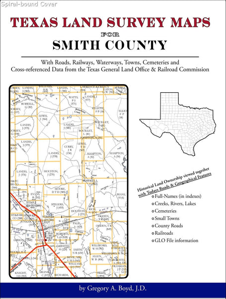 Texas Land Survey Maps for Smith County (Spiral book cover)