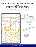 Texas Land Survey Maps for Stephens County (Spiral book cover)