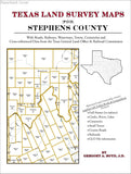 Texas Land Survey Maps for Stephens County (Paperback book cover)