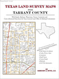 Texas Land Survey Maps for Tarrant County (Paperback book cover)