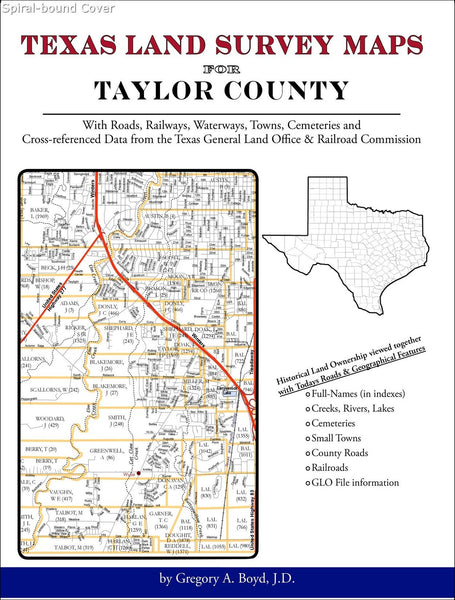 Texas Land Survey Maps for Taylor County (Spiral book cover)