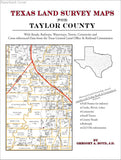 Texas Land Survey Maps for Taylor County (Paperback book cover)