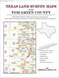 Texas Land Survey Maps for Tom Green County (Paperback book cover)