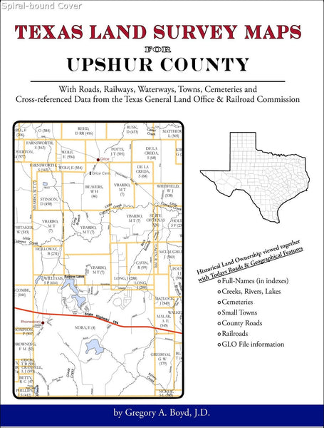 Texas Land Survey Maps for Upshur County (Spiral book cover)
