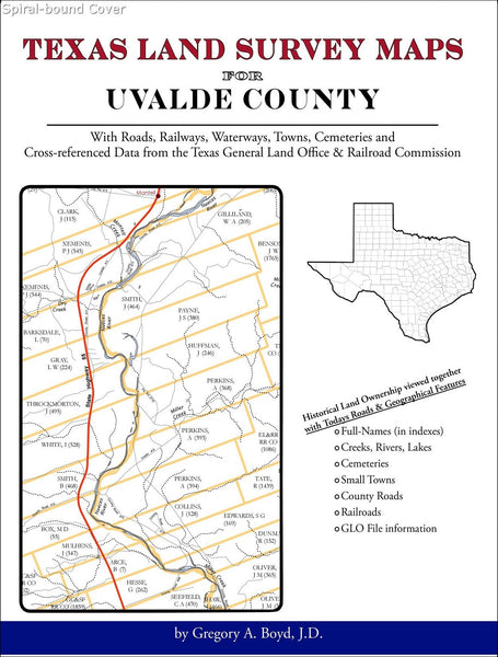 Texas Land Survey Maps for Uvalde County (Spiral book cover)